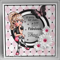 Digi-re-doo-dah: A Lot More Fabulous! Create Birthday Card, 16th Birthday Card, Homemade Birthday Cards, Girl Birthday Cards, Birthday Cards For Women, Homemade Cards, Birthday Bash, Funny Birthday, Happy Birthday