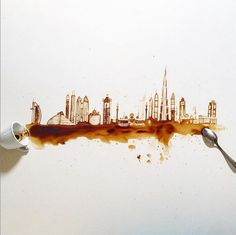 Giulia Bernardelli illustrations with coffee