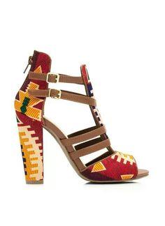 Chaussures personnalisées en tissu pagne