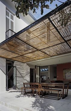 Attached Pergola Design For Your Dream Home Attached Pergola Design – It is and many of us are thinking of new ways to make our homes a better place.Attached Pergola Design – It is and many of us are thinking of new ways to make our homes a better place. Metal Pergola, Wooden Pergola, Outdoor Pergola, Backyard Pergola, Outdoor Spaces, Outdoor Living, Outdoor Decor, Pergola Lighting, Metal Roof