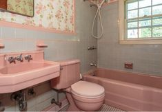 So we recently bought a 1950's cape style house with a pink bathroom.The general contractor recommends to keeps the bathtub as it is good qu...