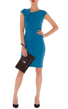 Eenvoudige shift-jurk van crêpe