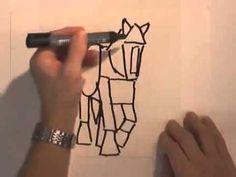 watercolour secrets - Drawing Basic Shapes with Bob Davies - YouTube