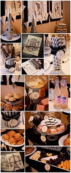 paris themed party.. Edith I may throw us one of these when I start getting super anxious!!
