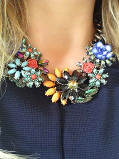 Collar flores $295 | Consigue lo en Facebook.com/MelosaBisu