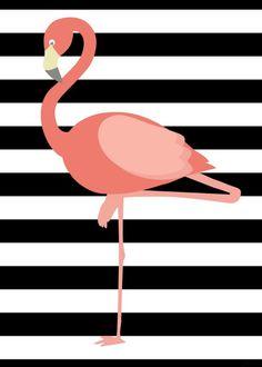 Flamingo - quadro parede do aparador