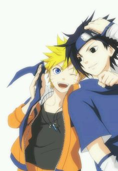 #Naruto #Sasuke .... whoever made this pic is a genius!!! I simply love the way they have been drawn!!!
