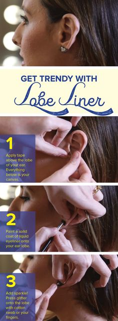 Lobe liner is the trendy makeup trick that will dress up your ears in seconds. Who needs earrings anymore?