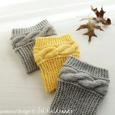 Boot topper pattern Boho Knits - Boot Cuffs, leg warmers PDF Knitting Pattern - cable fall knits accessories PHOTO tutorial