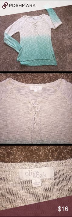 Olive & oak sweater! Green & cream! Small! Olive & oak sweater! Green & cream! Small! Excellent condition! Olive & Oak Sweaters