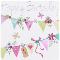 Made With Love Birthday Bunting Card