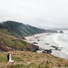 Oregon Coast Wedding- photos and ceremony at Ecola State Park