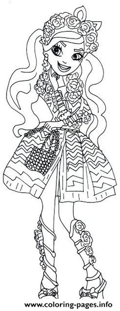 Print Spring Unsprung Kitty Chesire Ever After High Coloring Pages