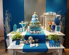 Tubetes personalizado para sua festa, temos vários temas e cores!!!    Tubete Azul com tampa de metal prateada e tag de floco de neve para festa de tema FROZEN.    Preço unitário, pedido mínimo 20 unidades