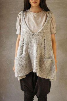 Knitted tunic...I love this! Diane - Can you figure this out?