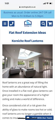 Roof Shapes, Roof Lantern, Roof Extension, Flat Roof, Natural Light, Lanterns, Glass, Outdoor Decor, Home Decor