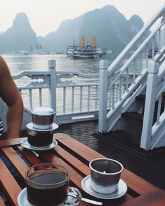 Feels like just yesterday we were sailing through Ha Long Bay in fact it was a year ago today. Wish I had this view (and this Vietnamese coffee) right now.