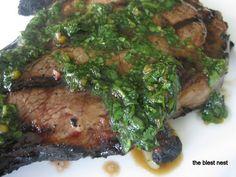 Steak with Cilantro sauce