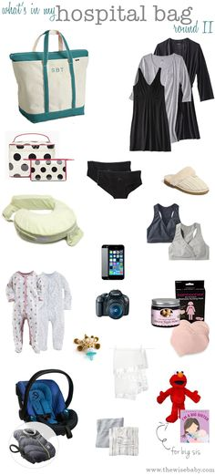 What to pack in your hospital bag – round II