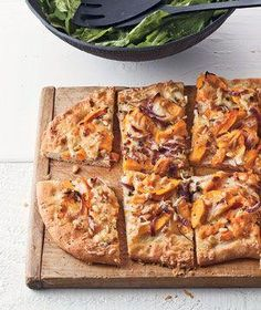Butternut Squash Flatbread with Cheddar and Pine Nuts | Real Simple