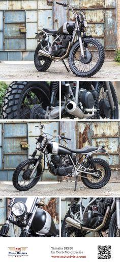 #Yamaha SR250 by @Rachel Corbin Motorcycles ~ featured on Moto Rivista #Yamaha #SR250 #Custom #Motorcycle #Spain