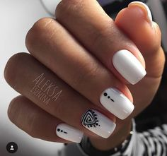 french orange pink designs red designs nail design nails The Most Beautiful and Fascinating White Nail Designs: White Manicure Ideas Square Acrylic Nails, White Acrylic Nails, White Nail Art, White Manicure, White Nails, White Nail Designs, Acrylic Nail Designs, Square Nail Designs, Pretty Nails