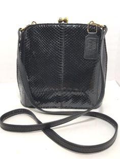 f0c9bb0bbc JACQUELINE FERRAR Black Patent Structured Crossbody Bag Womens Purse  Pocketbook  JacquelineFerrar  ShoulderHobo