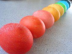 use kool-aid to dye eggs (full instructions here)