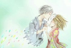 Gin, Hotaru, sad, crying, kiss, mask; Hotarubi no Mori e