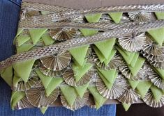 Indian gota Lace, Craft Trim, Decorative Ribbon, Scalloped Trim, Saree Border, Wholesale Ribbon, Sewing Laces - 9 yards
