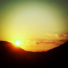 tramonto nell'alta valle dell'Argentino ... Parco nazionale del Pollino