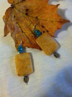 Yellow Carnelian Earrings Handmade Gemstone by PamsPawsJewelry