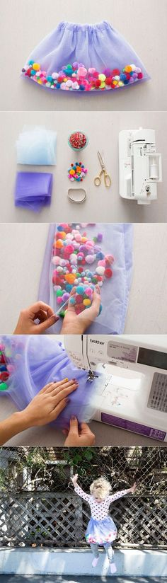 New ideas for sewing baby girl dress diy tutu Sewing For Kids, Baby Sewing, Diy For Kids, Crafts For Kids, Baby Crafts, Sewing Hacks, Sewing Crafts, Sewing Projects, Sewing Ideas
