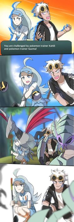 Kahili and Guzma #funnypokemonimages