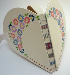 Large Heart Book - Vintage Embroidered