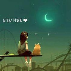 Cartoon my photos. I want to write a story using only photos Moon Art, Anime Art Girl, Stars And Moon, Belle Photo, Cute Cartoon, Cat Art, Cute Drawings, Cute Wallpapers, Fantasy Art