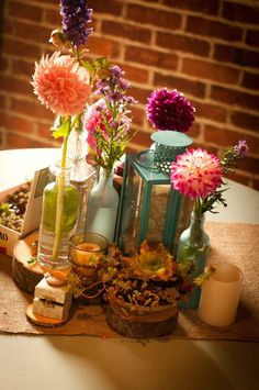 summer wedding - lantern centerpiece