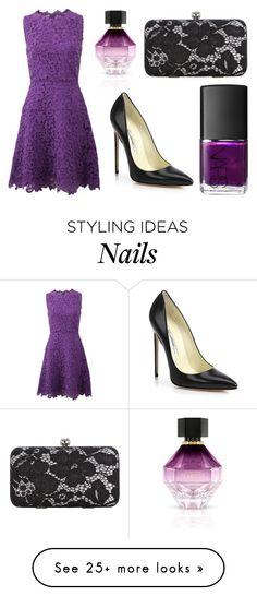 """Purple Dress + Accessories"" by lexi899 on Polyvore featuring Oscar de la Renta, Brian Atwood, NARS Cosmetics, Jacques Vert, Victoria's Secret, purple, black and purpleandblack"