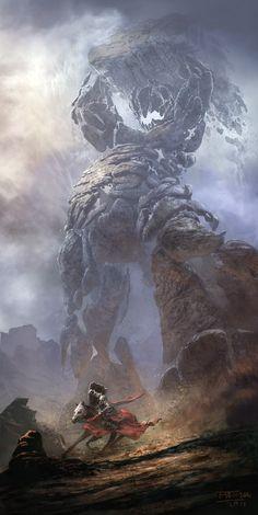 Telara's Stone Hulk by Michal Matczak