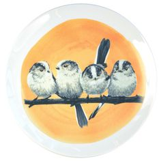 Plate with the illustration of the Long-tailed titmouse by Myrte. You can enjoy our lovely plates hanging on a wall or on the table.   Our plates are available in three different diameters: 15, 19 and 25cm / 6, 7.5 and 9.8 inch  Printed by hand in The Netherlands  Made in limited edition  Print is fired into the glaze  Dishwasher safe  You can order a plate hanger later in the checkout process. We have a classic wire hanger and an invisible sticker hanger.  Do you want to know how the…