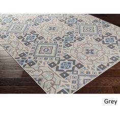 Meticulously Woven Kamora Rug (6'9 x 9'8) (Grey) (Polypropylene, floral)