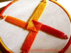 Brigid's Cross -embroidery by gingerbread_snowflakes, via Flickr