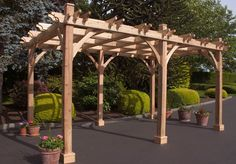 Just add grapevines! The archways of our 10x16 Breeze Pergola create an enduring, classical style, and unlike Rome, it can be built in a day. Pergola Features - Western Red Cedar Walls and Framing - P