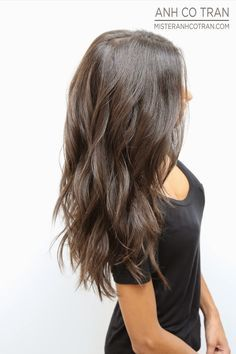 blended a-line layers long hair - Google Search