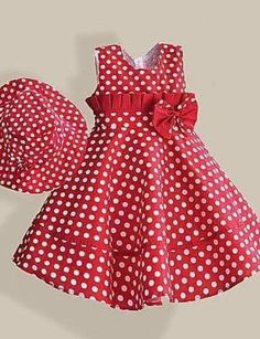 New clothes cute casual hats Ideas Little Girl Dresses, Girls Dresses, Flower Girl Dresses, Casual Wear, Casual Dresses, Fashion Dresses, The Dress, Baby Dress, Dress Red