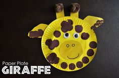 Paper Plate Giraffe -- Provide children with paper plates, paint, googly eyes and construction paper...see what other animals they can create!