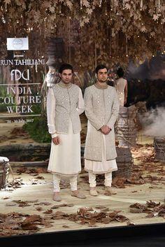 Tarun Tahiliani weaves magic through his couture 2017 wedding wear line Wedding Kurta For Men, Wedding Dresses Men Indian, Indian Wedding Wear, Wedding Dress Men, Wedding Prep, Wedding Groom, Sherwani Groom, Wedding Sherwani, Mens Sherwani