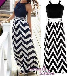 ♥Größe 34-42 Elegantes Sommerkleid Abendkleid Strandkleid Schwarz/Weiß+B493♥