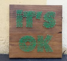 STRING Art ITS OK by Hiboubazar on Etsy
