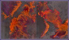 Detante, Encaustic on Oxidized Steel by Jan Wistrun Dreher, El Paso, TX